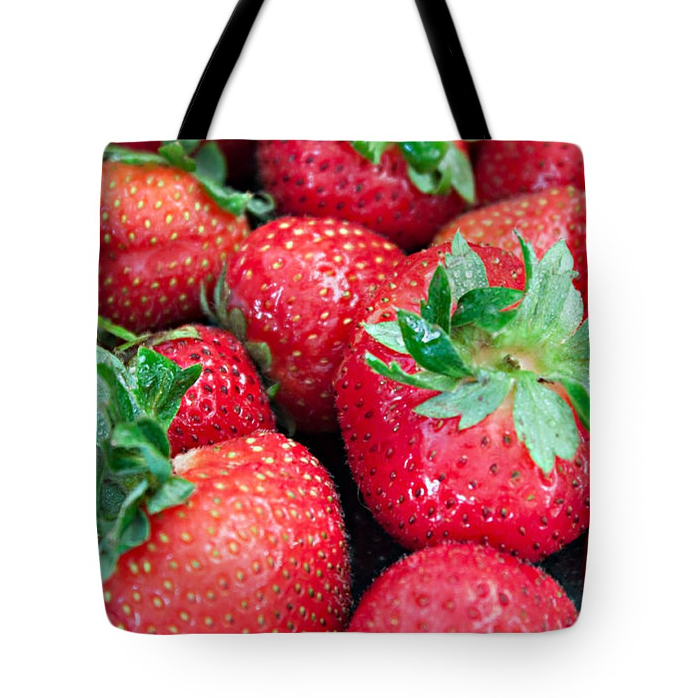 Strawberry Tote Bag featuring the photograph Strawberry Delight by Sherry Hallemeier