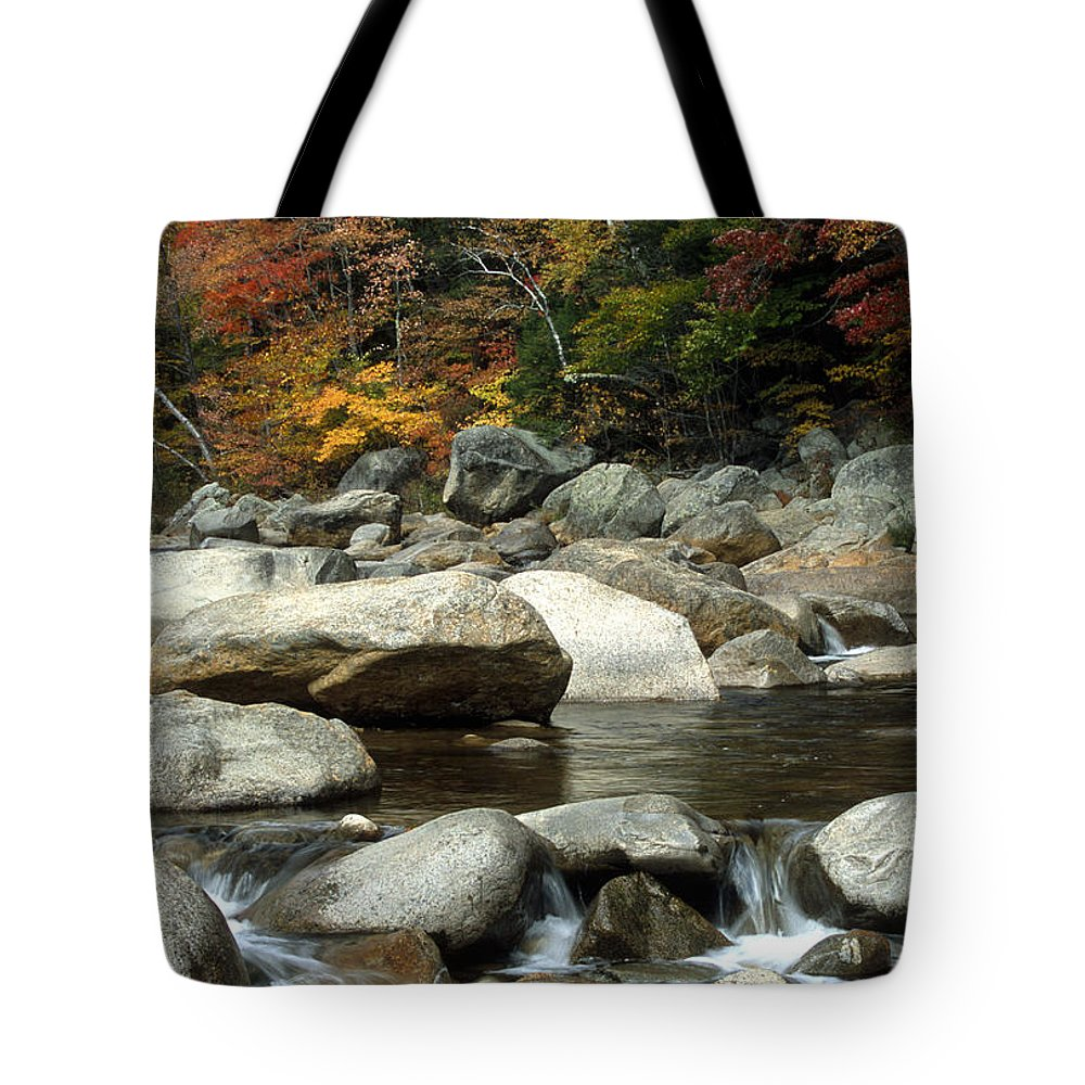 New Hampshire Tote Bag featuring the photograph Streamside Color by Sandra Bronstein