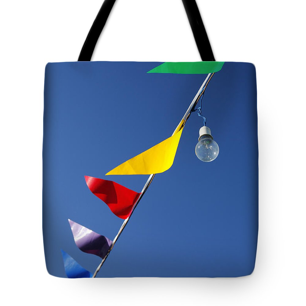 Holy Spirit Tote Bag featuring the photograph Street Decorations by Gaspar Avila
