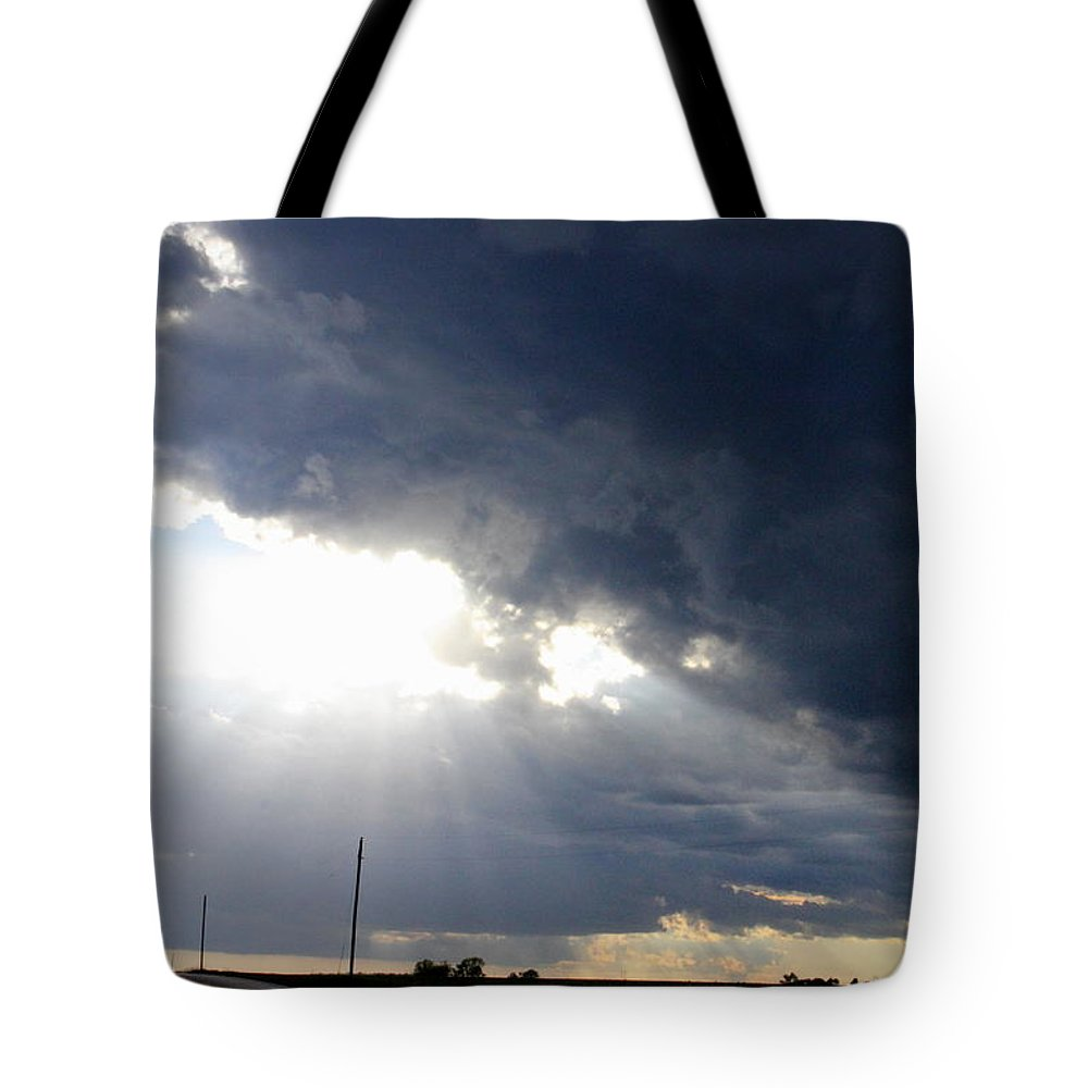 Street Lights Tote Bag featuring the photograph Street Lights by Ed Smith