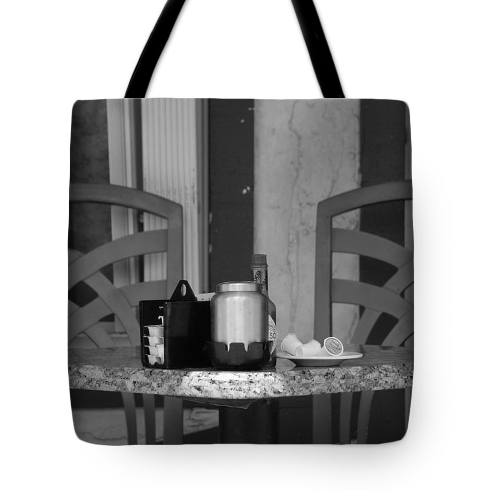 Chairs Tote Bag featuring the photograph Street Scene by Rob Hans