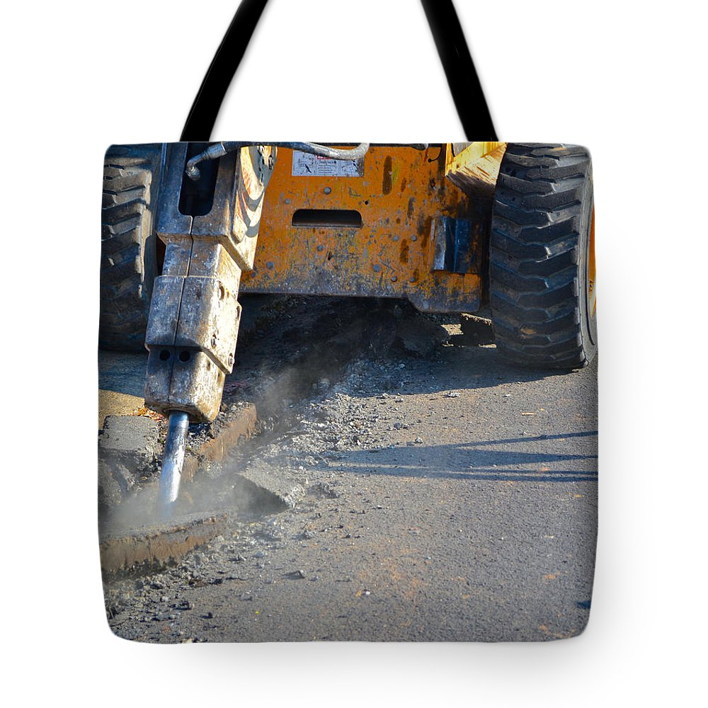 Street Work Tote Bag featuring the photograph Street Work 1 by Bill Owen