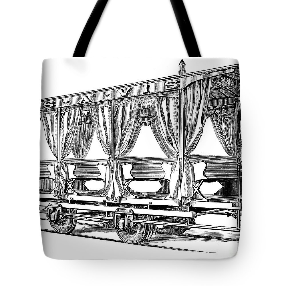 1880 Tote Bag featuring the photograph Streetcar, C1880 by Granger