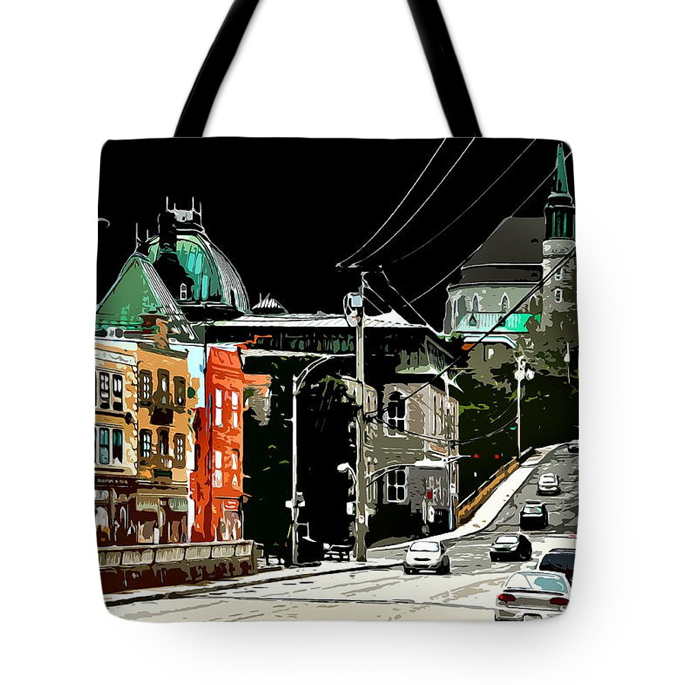 Citycenter Tote Bag featuring the photograph Streetside by Burney Lieberman