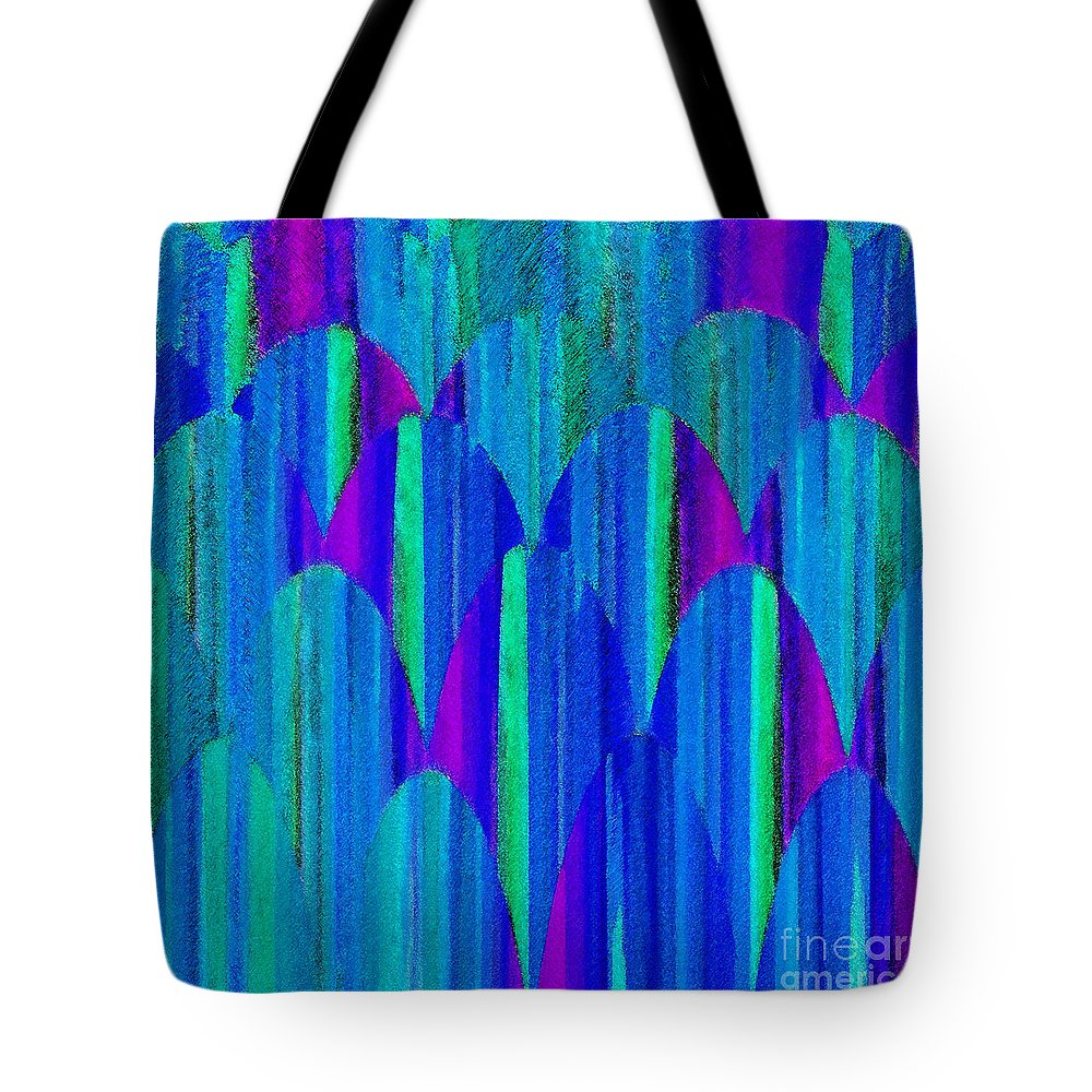 Abstract Tote Bag featuring the digital art Striations by ME Kozdron