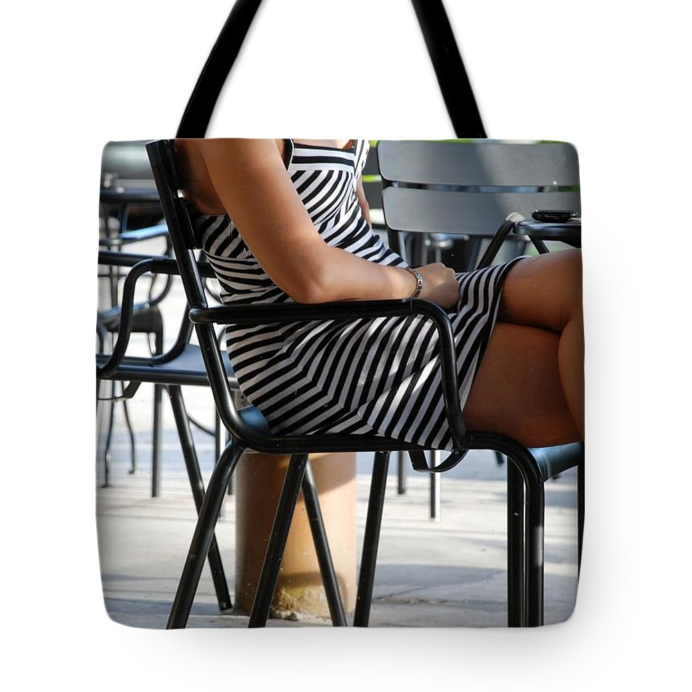 Women Tote Bag featuring the photograph Stripped Dress by Rob Hans