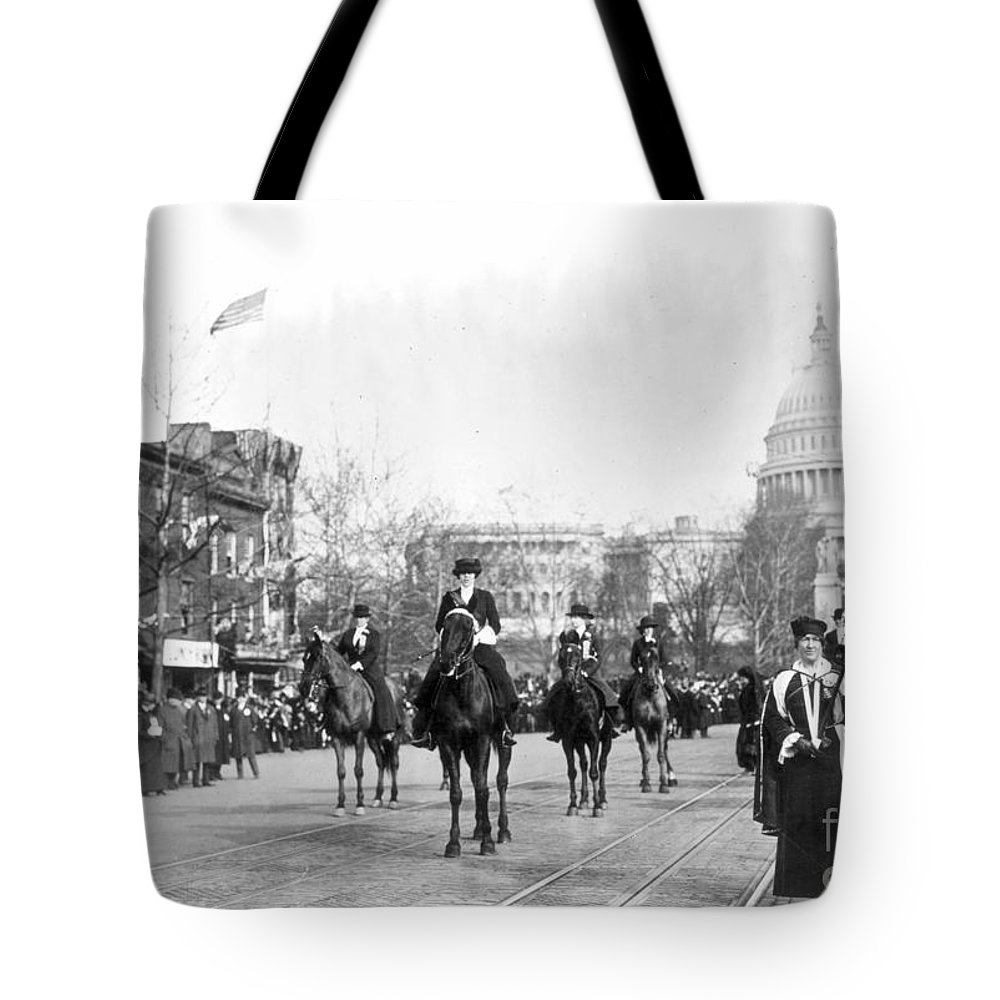 1913 Tote Bag featuring the photograph Suffragettes, 1913 by Granger