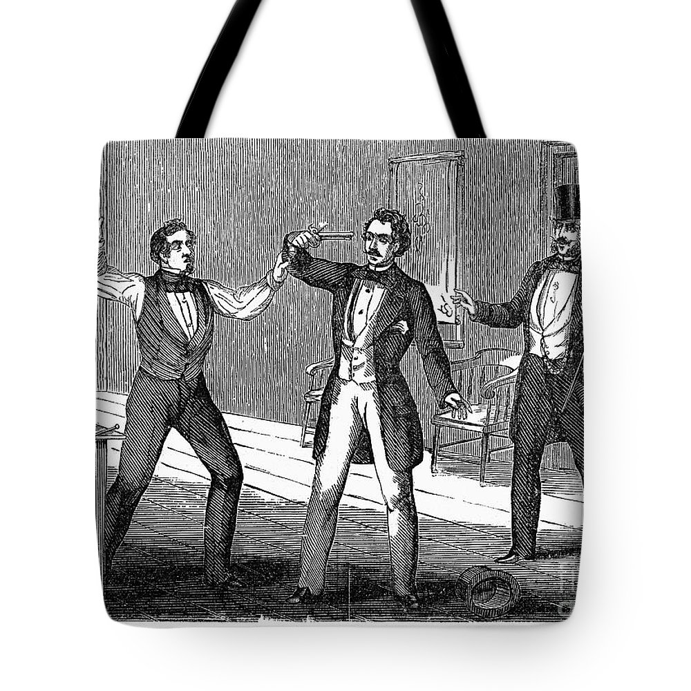 1859 Tote Bag featuring the photograph Suicide Attempt, 1859 by Granger