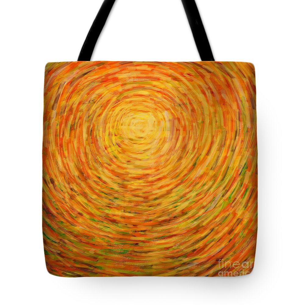 Abstract Tote Bag featuring the painting Summer by Atiketta Sangasaeng