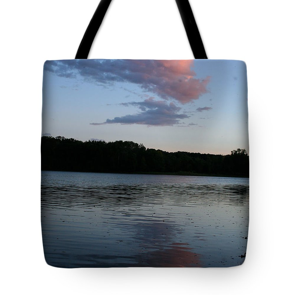 Tote Bag featuring the photograph Summer Cloud Reflections by Susan Herber