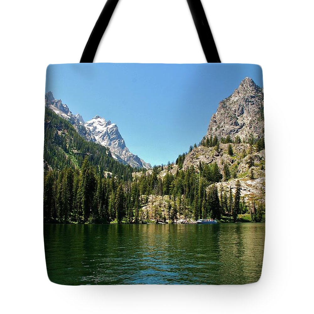 Jenny Lake Tote Bag featuring the photograph Summer Day At Jenny Lake by Dany Lison