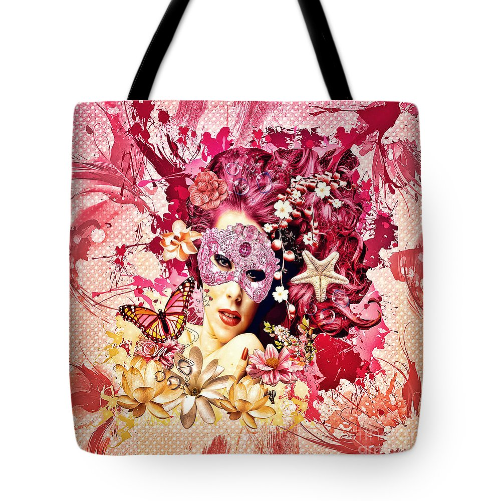 Summer Tote Bag featuring the digital art Summer by Mo T