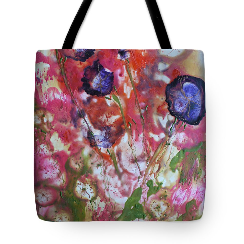 Encaustic Tote Bag featuring the painting Summer Optimism by Heather Hennick