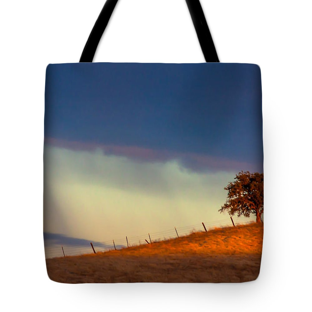 Landscape Tote Bag featuring the photograph Summer Shower by Marc Crumpler