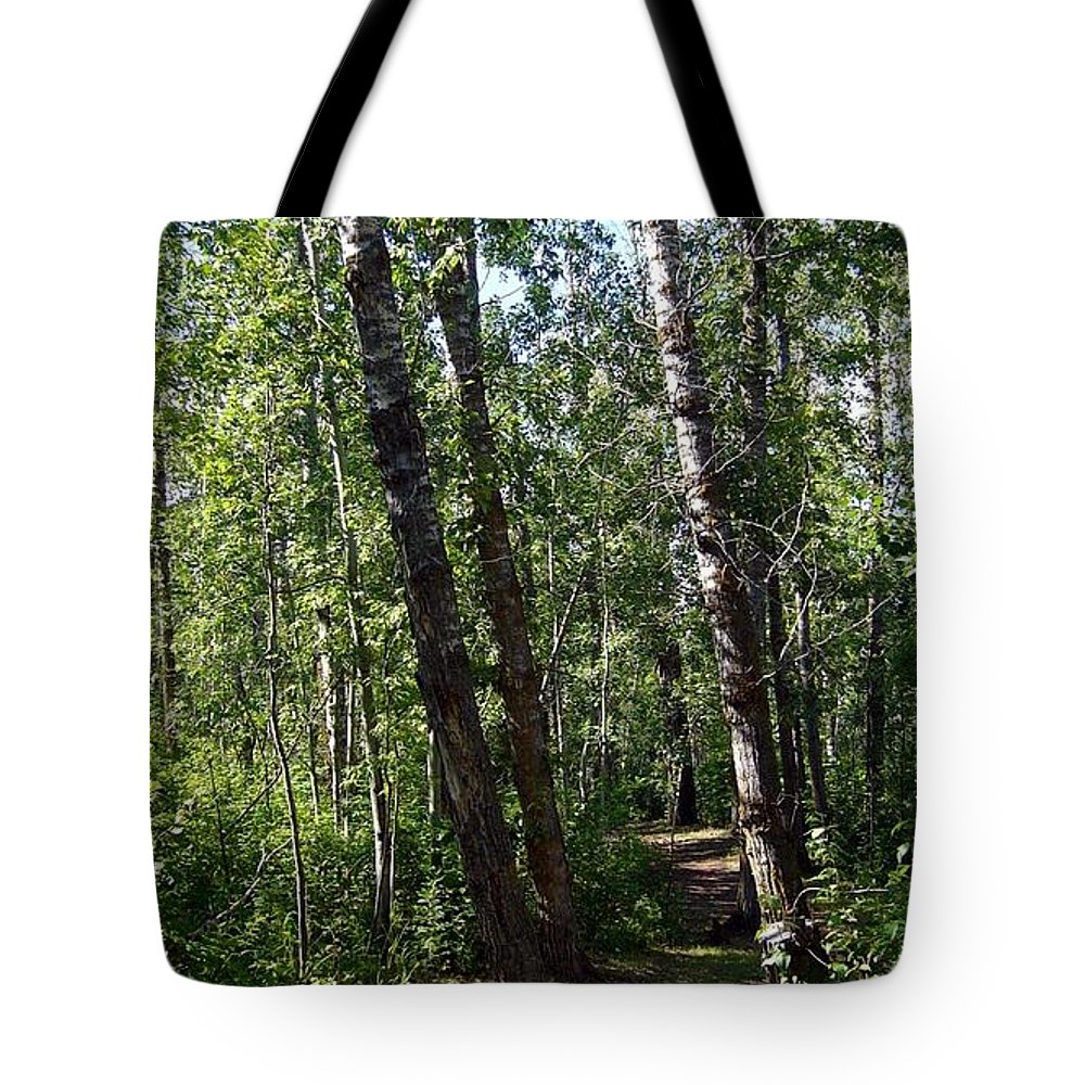 Nature Tote Bag featuring the photograph Summer Trail by Jim Sauchyn