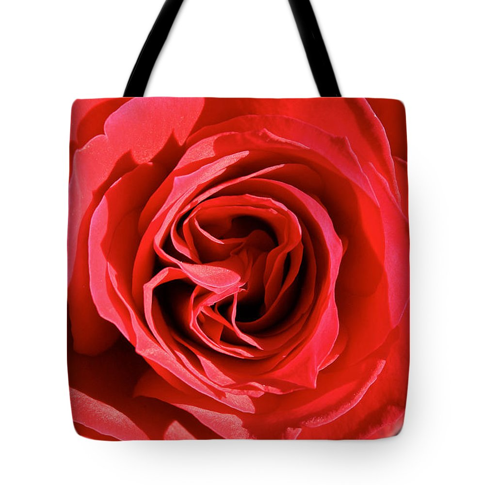 Flower Tote Bag featuring the photograph Summer's Red Rose by Susan Herber
