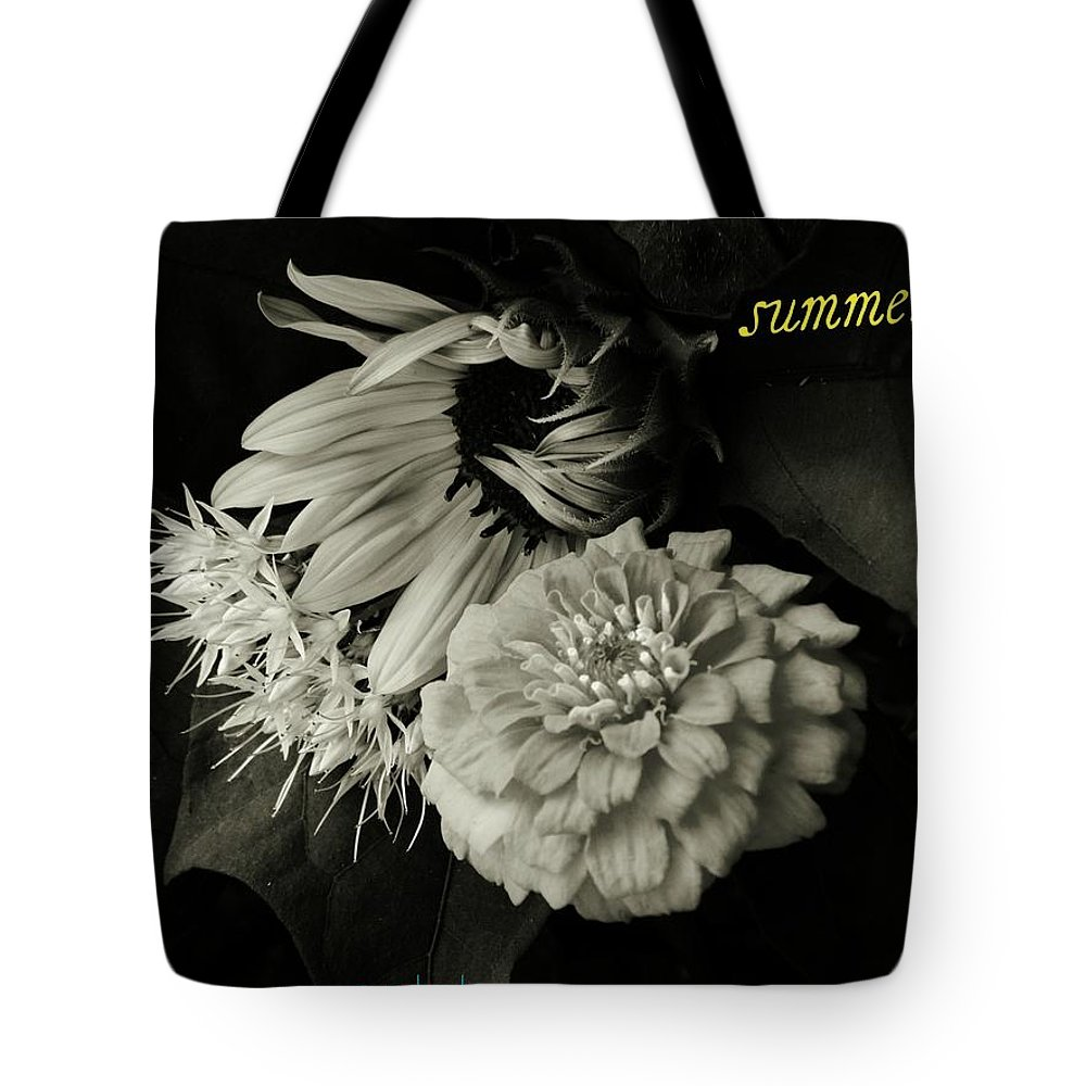 Flowers Tote Bag featuring the photograph Summertime by Chris Berry