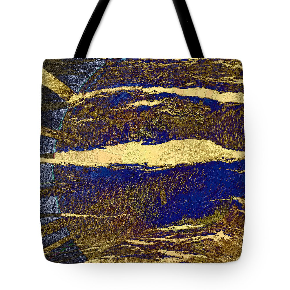 Abstract Tote Bag featuring the photograph Sun And Clouds by Lenore Senior