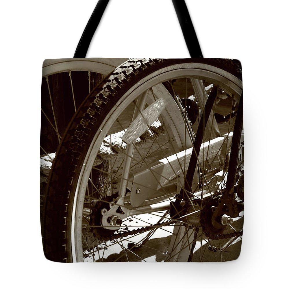 Bike Tote Bag featuring the photograph Sun Cruiser Wheels by Lorraine Devon Wilke