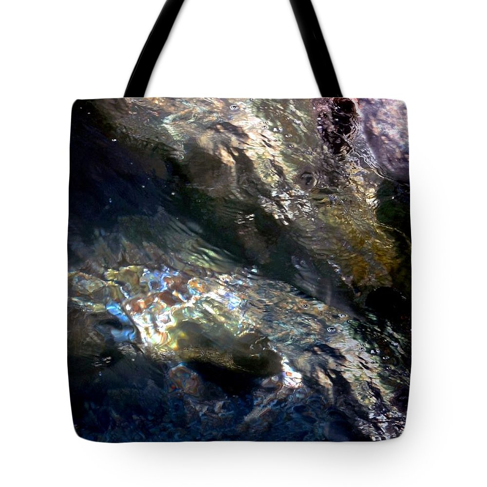 Water Tote Bag featuring the digital art Sun On Water by Dale  Ford