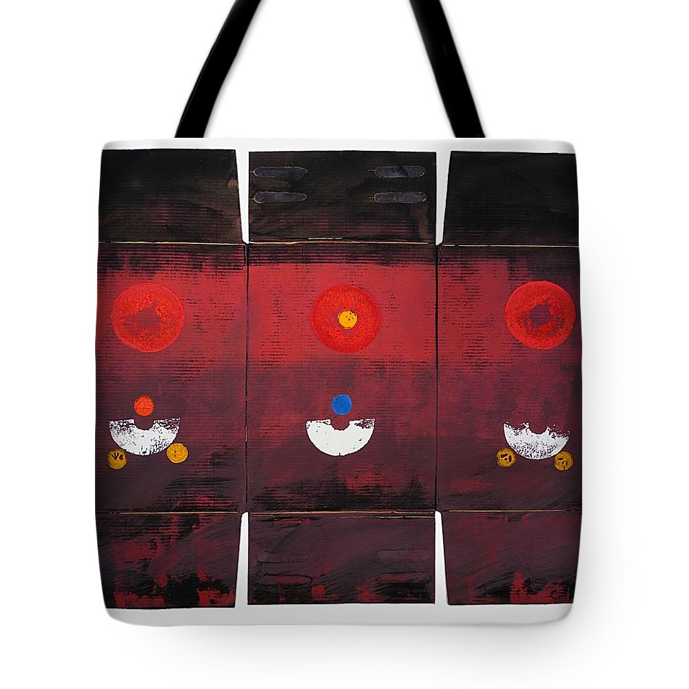 Sun Tote Bag featuring the painting Sunarise by Charles Stuart