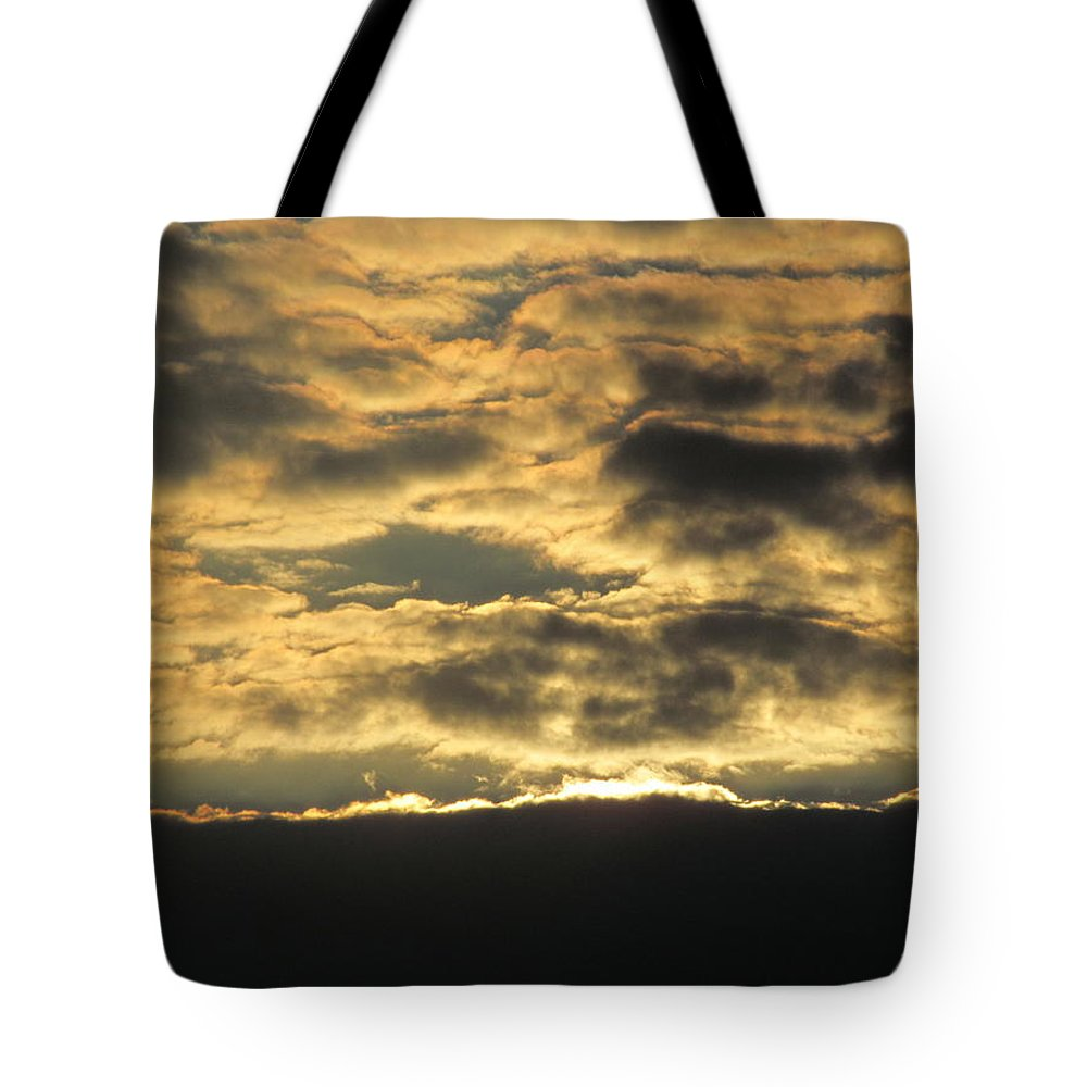 Suns Tote Bag featuring the photograph Sunday Autumn Sunset Three by Tina M Wenger