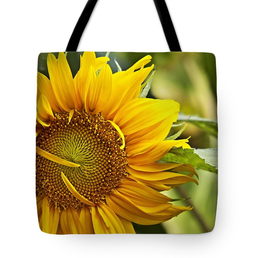 Yellow Flower Tote Bag featuring the digital art Sunflower by Christy Leigh