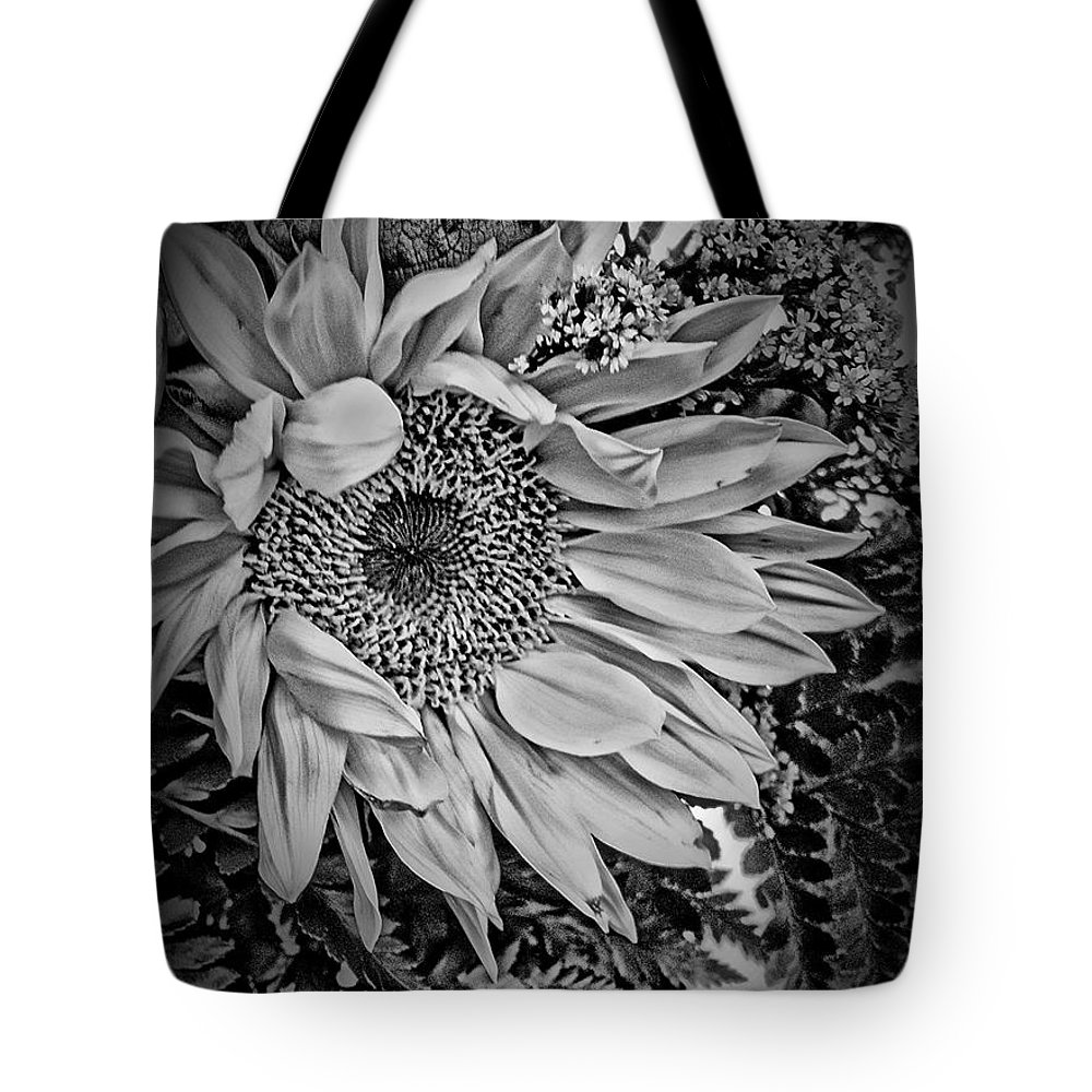 Sunflower Tote Bag featuring the photograph Sunflower Study by Jill Smith