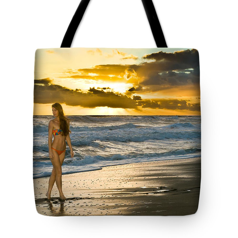 Swimsuit Tote Bag featuring the photograph Sunna by Robert Swinson