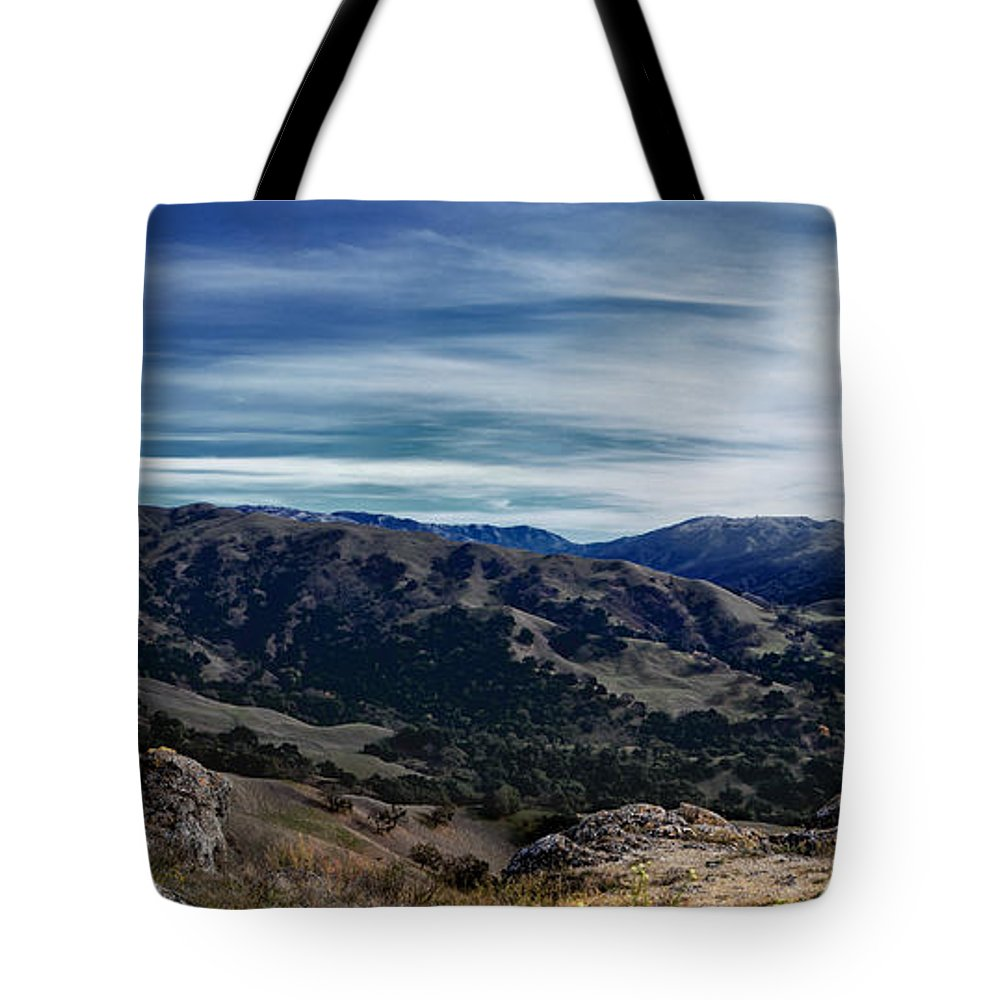 Sunol Tote Bag featuring the photograph Sunol Panorama by Karen W Meyer