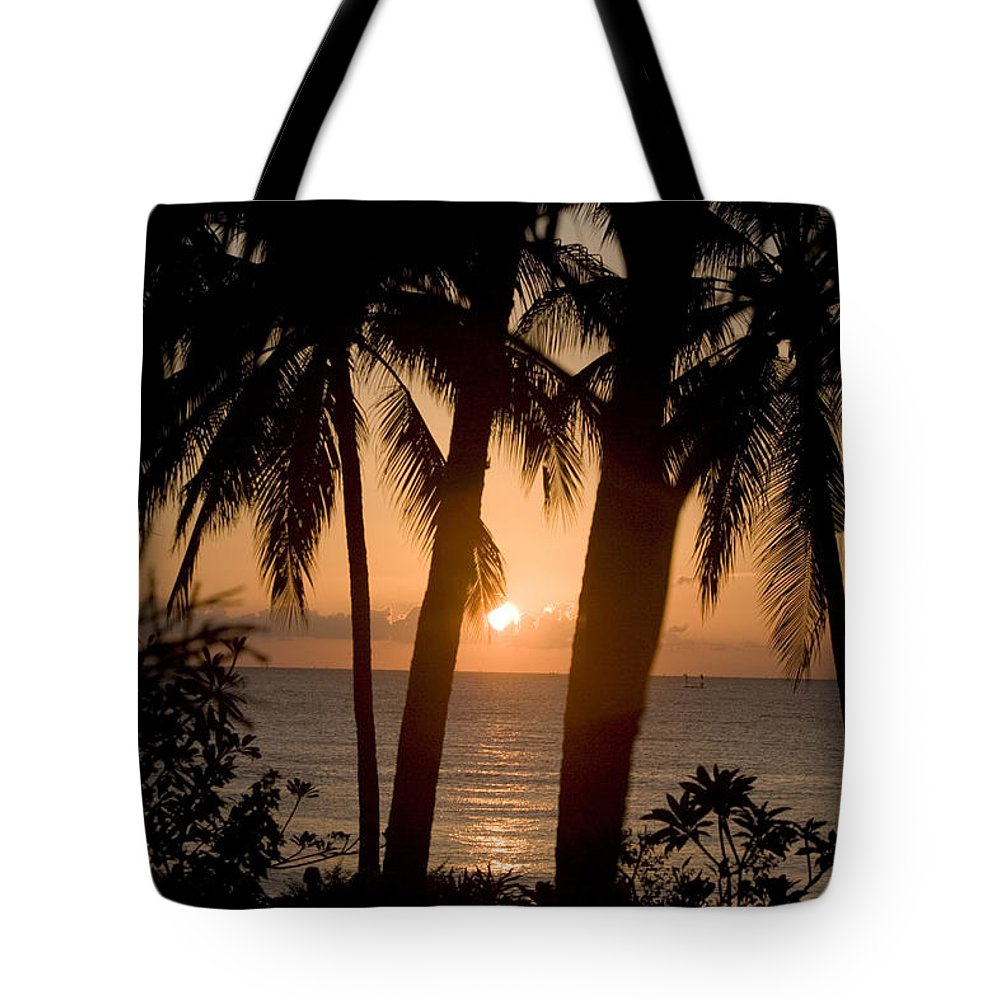 Island Tote Bag featuring the photograph Sunrise At Bali Island by Tim Laman
