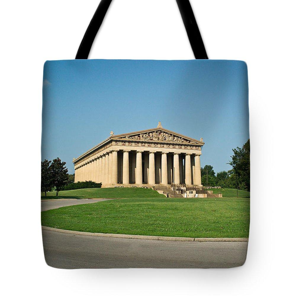 Parthenon Tote Bag featuring the photograph Sunrise On The Parthenon by Douglas Barnett