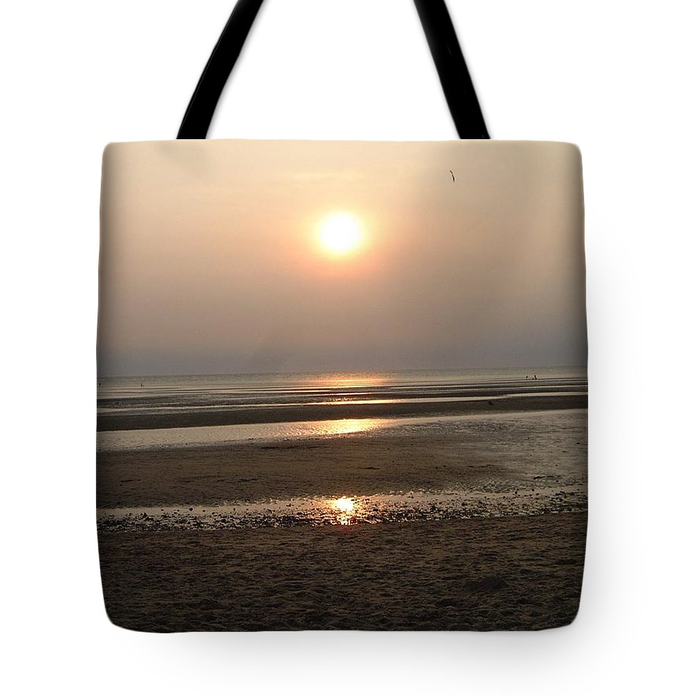 Sunset Tote Bag featuring the photograph Sunset At Campground Beach Eastham Ma Cape Cod by Sven Migot
