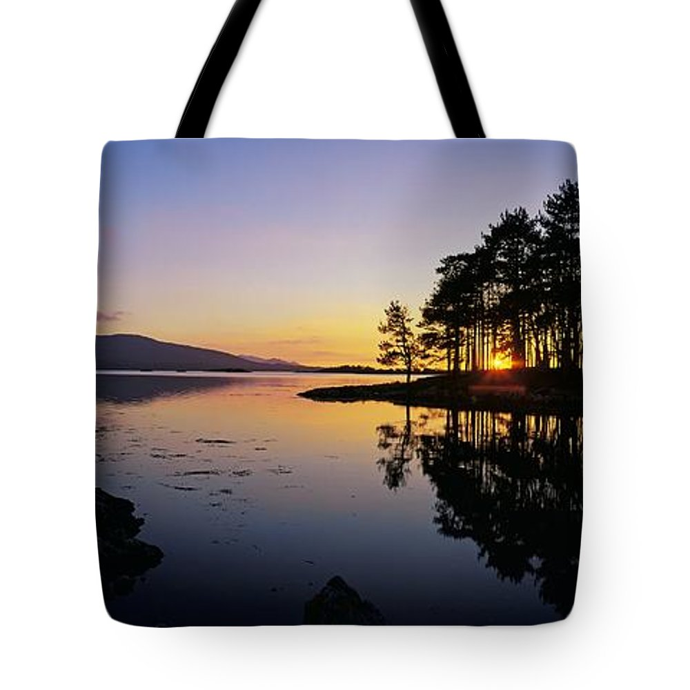 Color Image Tote Bag featuring the photograph Sunset At The Lake, Kenmare, Ring Of by The Irish Image Collection