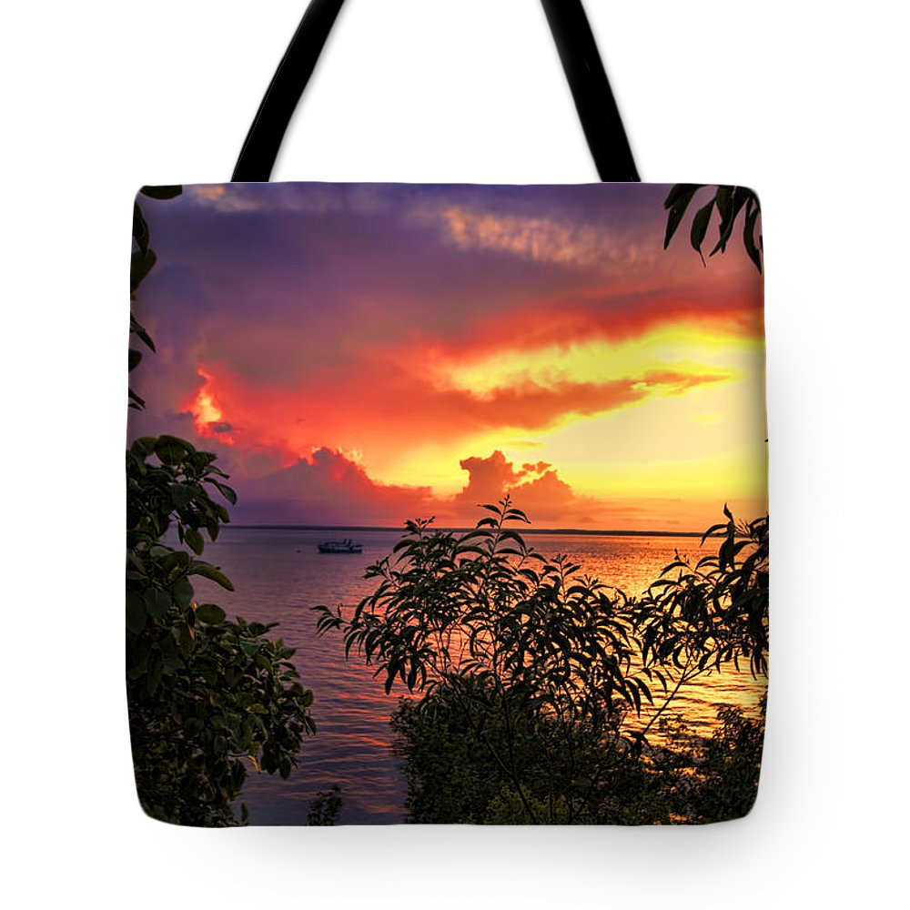 Darwin-northern Territory Tote Bag featuring the photograph Sunset At The Top-end V2 by Douglas Barnard