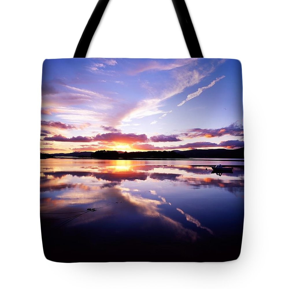 Bay Tote Bag featuring the photograph Sunset, Dinish Island Kenmare Bay by The Irish Image Collection