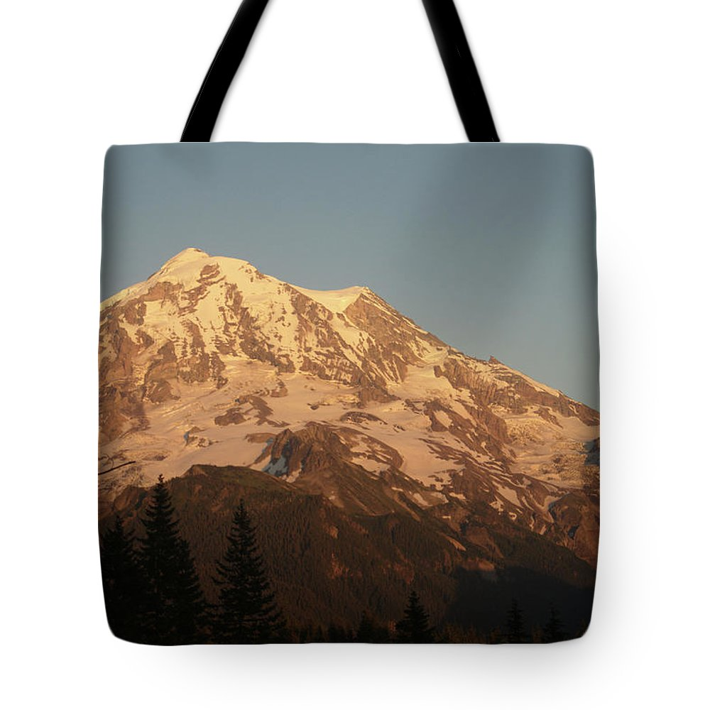 Sunset Tote Bag featuring the photograph Sunset On The Mountain by Michael Merry