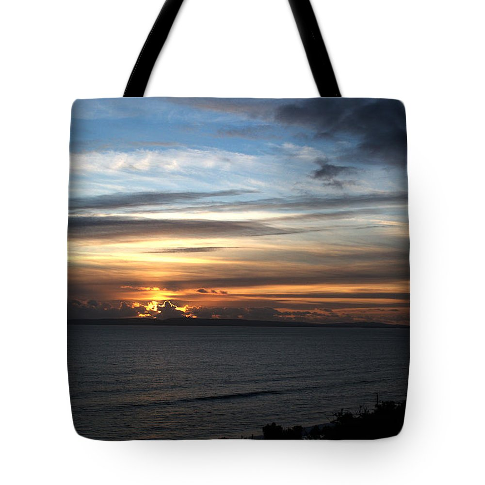Sunset Tote Bag featuring the photograph Sunset Over Poole Bay by Chris Day