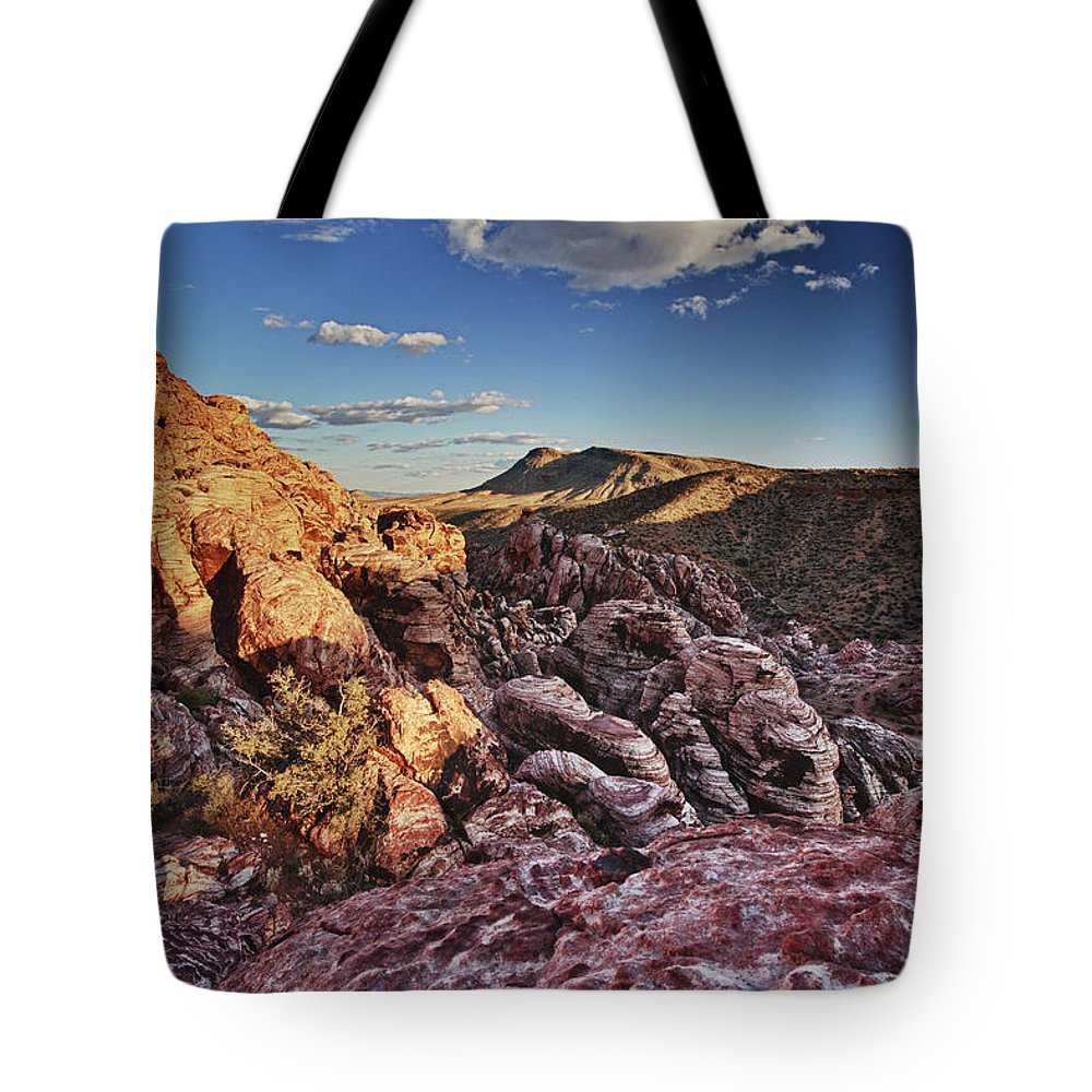 Red Rock Canyon Tote Bag featuring the photograph Sunset Over Red Rocks by Rick Berk