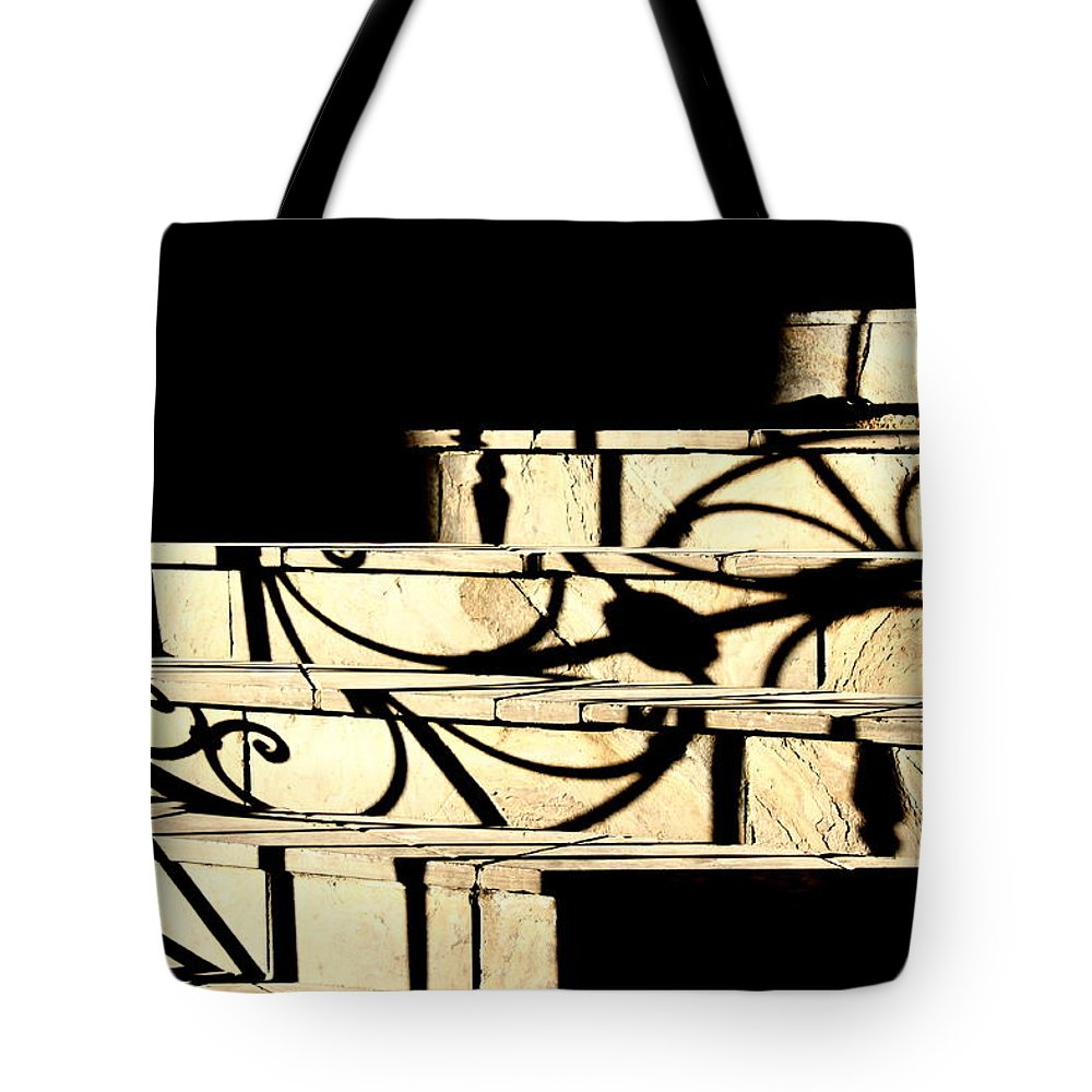Sunset Tote Bag featuring the photograph Sunset Steps by Valentino Visentini