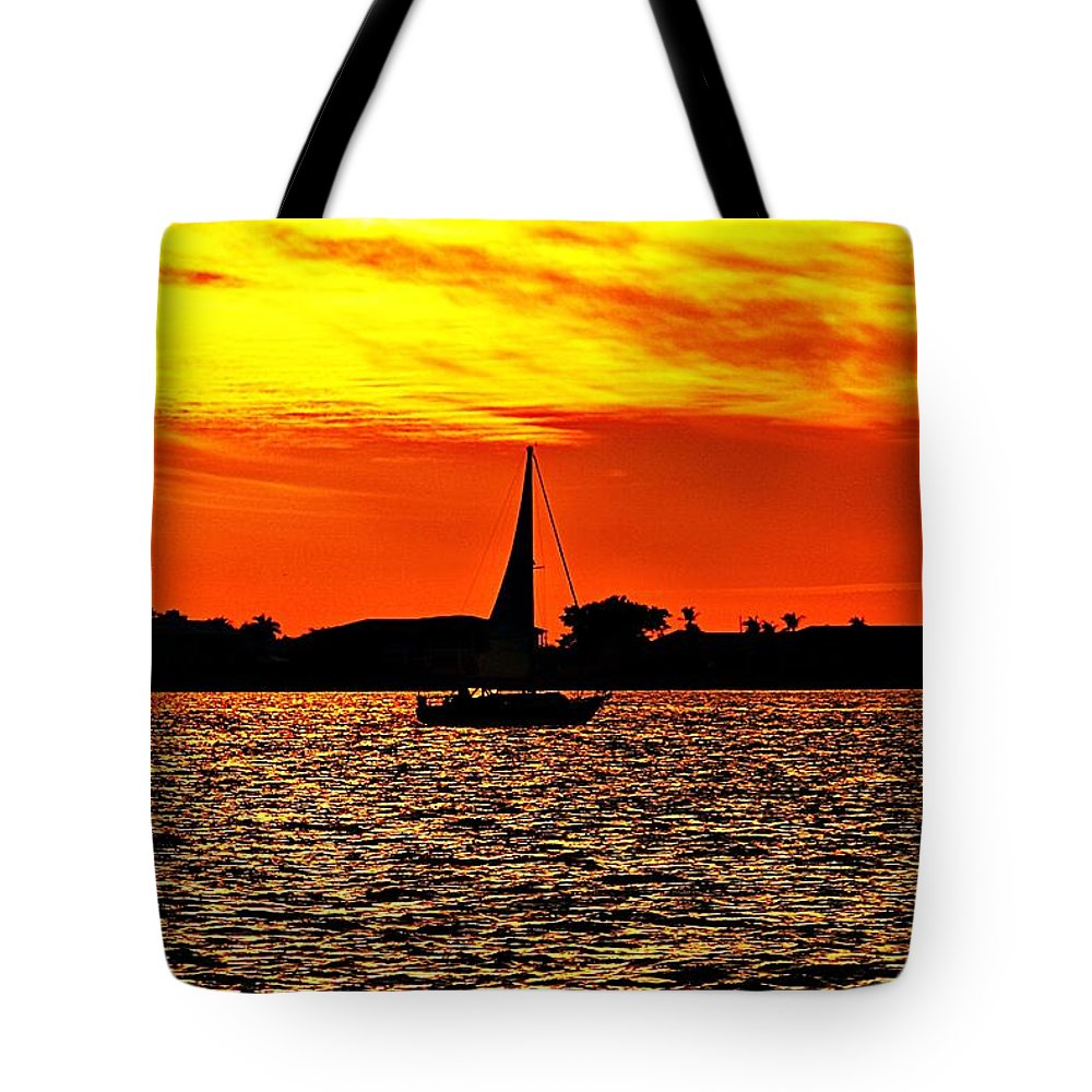 Sunset Tote Bag featuring the photograph Sunset Xxxiv by Joe Faherty