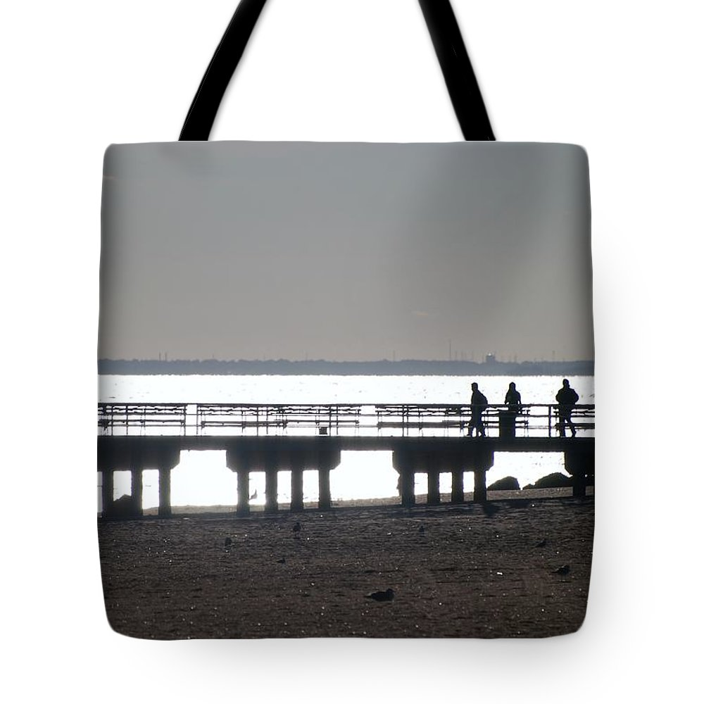 Brooklyn Tote Bag featuring the photograph Sunsets On Coney Island Pier by Rob Hans