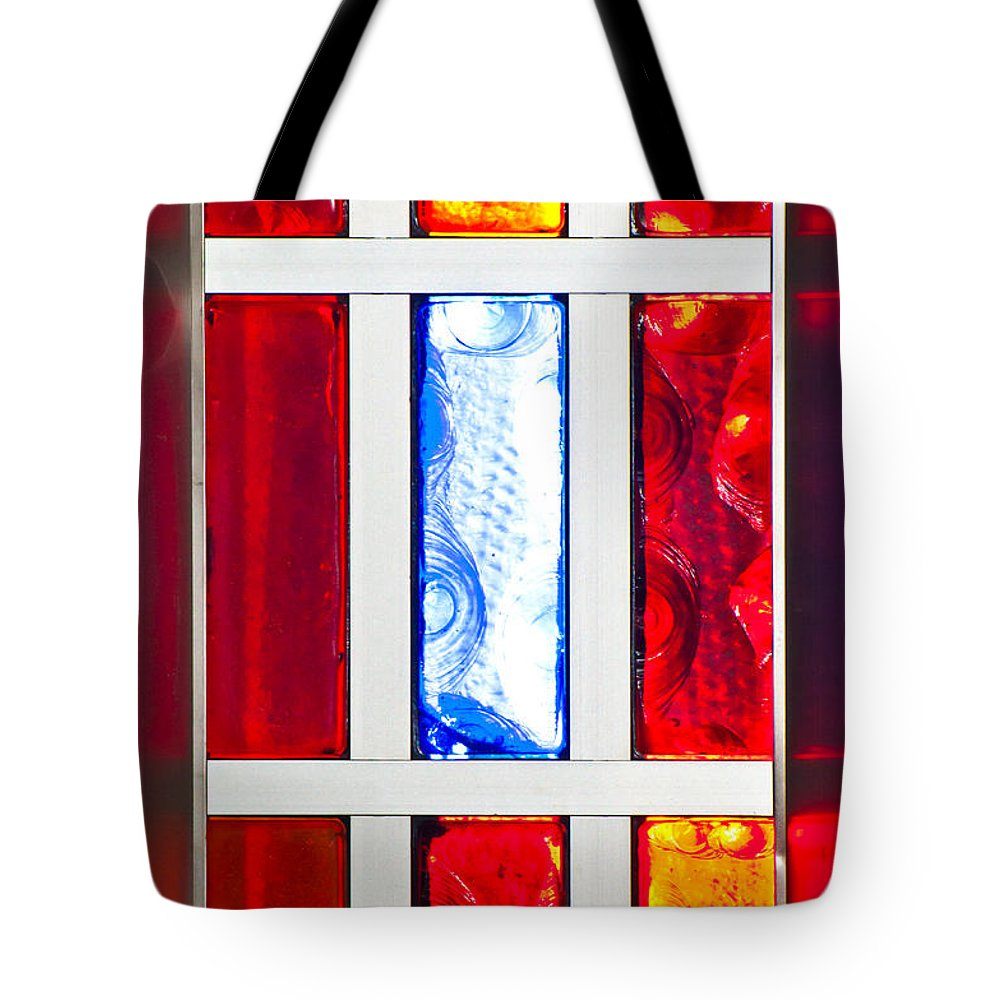 Glass Tote Bag featuring the photograph Surrounded By Color by Colleen Coccia