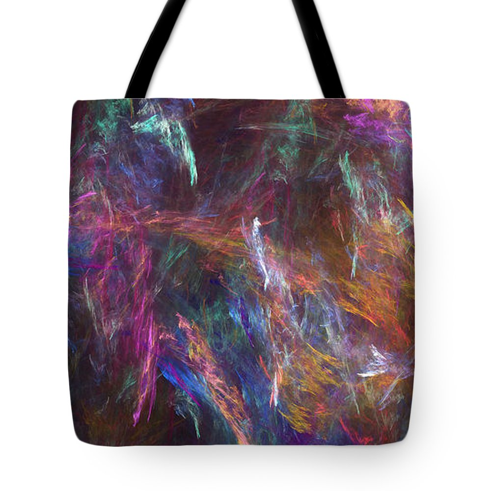 Abstract Tote Bag featuring the digital art Surtido by RochVanh