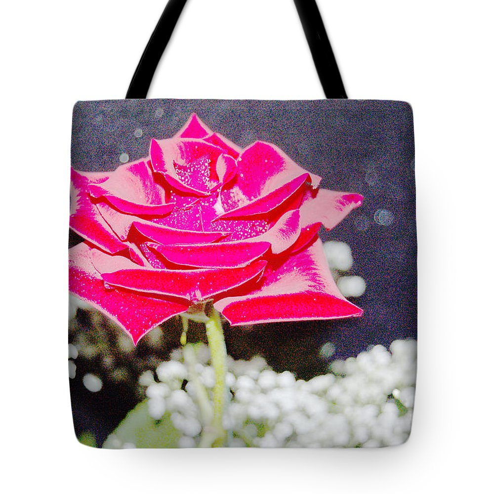 Poster Tote Bag featuring the photograph Suzannes Fantasy Rose by Suzanne Gaff