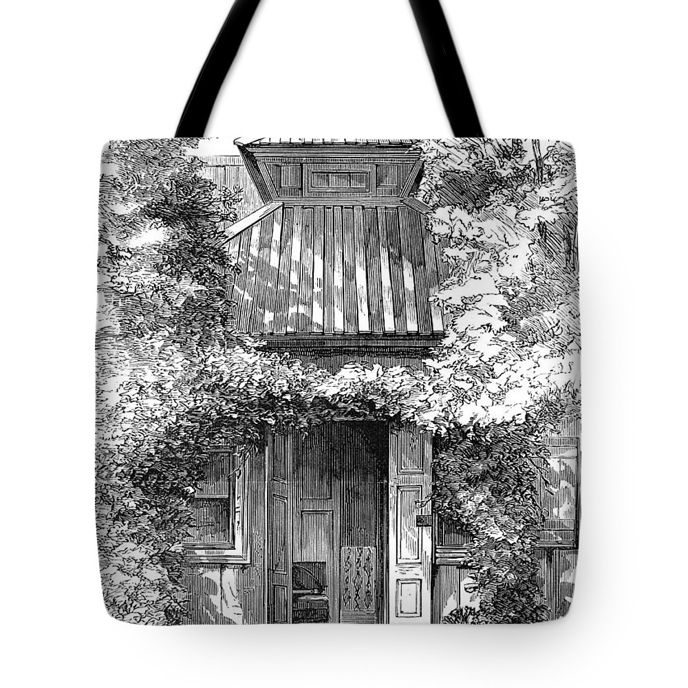 18th Century Tote Bag featuring the photograph Swedenborgs Cottage by Granger