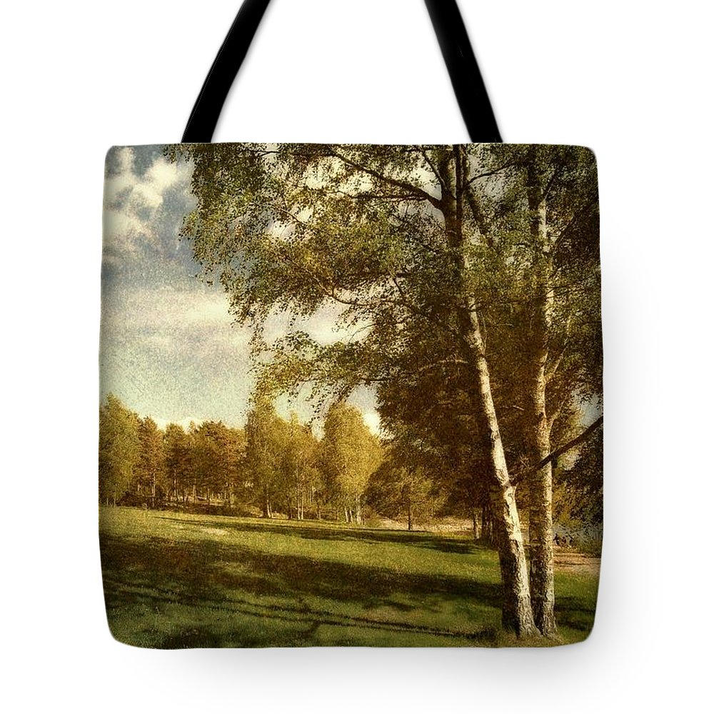 Sweden Tote Bag featuring the photograph Swedish Landscape by Sonya Kanelstrand