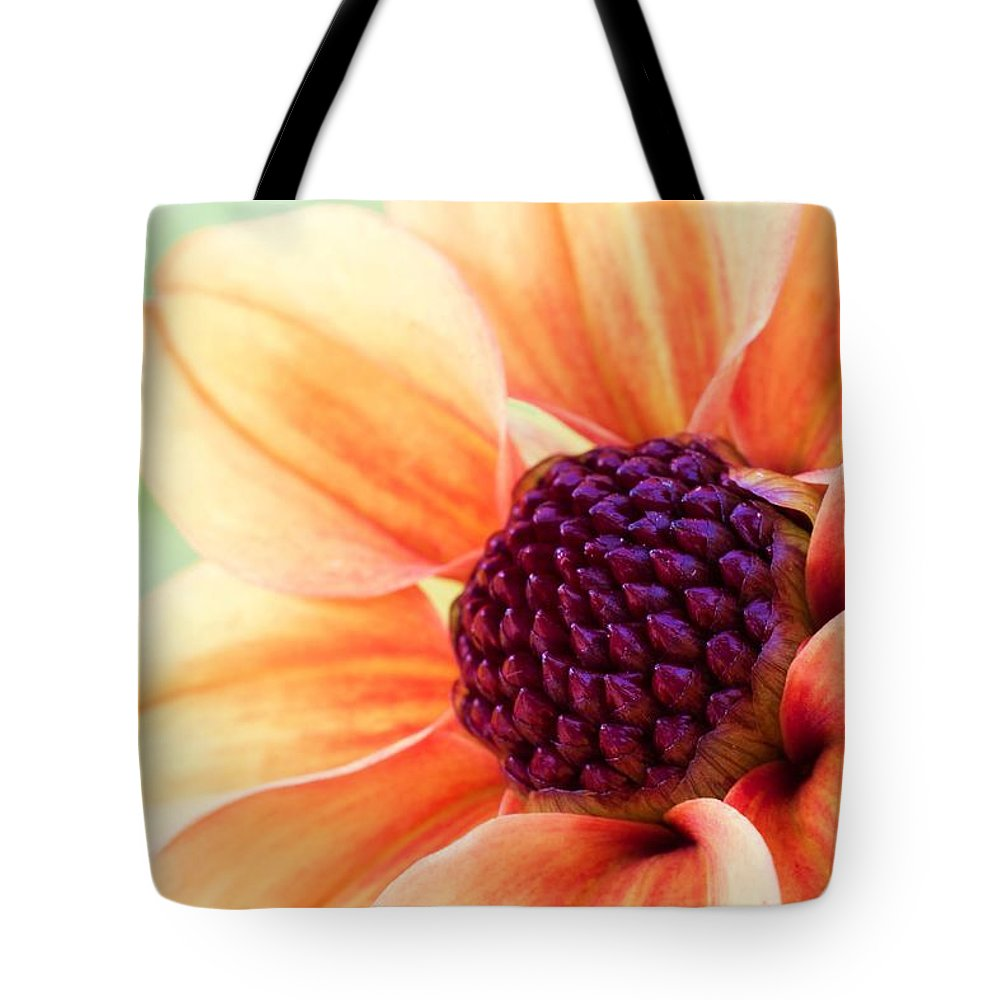 Abstract Tote Bag featuring the photograph Sweet Dahlia by Heidi Smith
