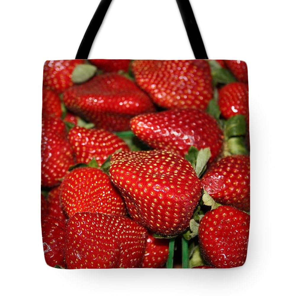 Strawberries Tote Bag featuring the photograph Sweet Florida Strawberries by Carol Groenen