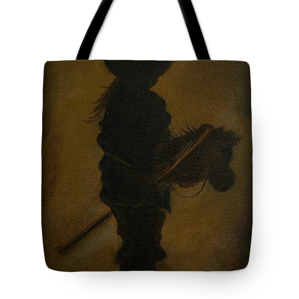 Little Girl Painting Tote Bag featuring the painting Sweet Little Rider by Leslie Allen